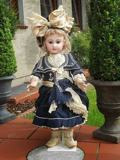 ЧУДЕСА ЖИВУТ СРЕДИ НАС: Морской стиль в одежде антикварных кукол