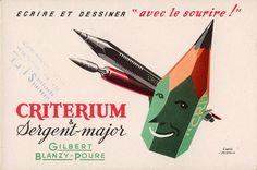 Gilbert Blanzy-Poure Criterium & Sergent-Major blotter, c 1950s