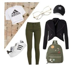 """osz"" by lillus-lako-ll on Polyvore featuring Topshop, adidas and IMoshion"
