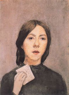 Self Portrait with Letter, 1907  Gwen John