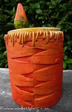 Birch Bark Baskets, Birch Bark Crafts, Basket Weaving, Planter Pots, Woodworking, Carving, Canisters, Patterns, Metal