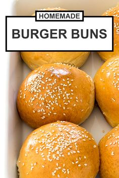 All you need are a few pantry staples to make soft and buttery burger buns at home! These are so much better than store bought! Homemade Burger Buns, Homemade Hamburgers, Turkey Burgers, Veggie Burgers, Mini Burgers, Hamburger Buns, Quick Hamburger Bun Recipe, Hamburger Recipes, Burger Bread