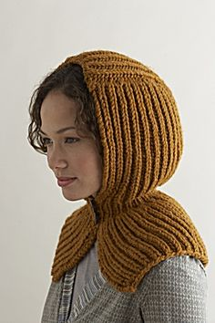Free Knitting Pattern: Seasonably Chic Hood