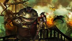 Tahm Kench and Captain Fortune by WikiMia