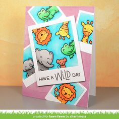 the Lawn Fawn blog: Lawn Fawn Intro: Wild for You, Selfie Frames + Say Cheese, Again