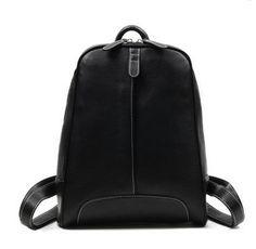 Купить черный женский кожаный городской рюкзак – Бирт