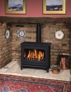 Smaller Inglenook Fireplace As Usual With A Wood Burning