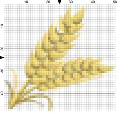 Stitch a Harvest Grain Needlepoint Motif for Fall Decorating: Day 307 of the 365 Needlepoint New Year's Resolutions Challenge
