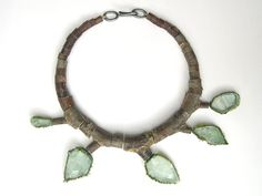 Terhi Tolvanen, Untitled 2004. Necklace Ø 21 cm. Wood, silver, textile, fluorite. Private collection.