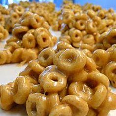 Cheerio Treats -Great for Austin, he loves cheerios.