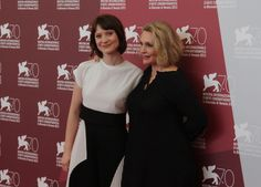 Mia Wasikowska and Robyn Davidson at the Venice Film Festival premiere of TRACKS