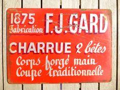 Plaque publicitaire métallique française   par LeGrenierDeFrancine