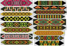 Loom or Square Stitch Beadwork Patterns  #heartbeadwork  #beading #beadwork #loom #pattern #cross_stitich