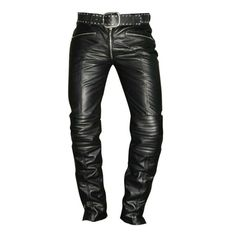 Biker Pants, Men Trousers, Slim Fit Trousers, Trouser Pants, Mens Leather Pants, Biker Leather, Cowhide Leather, Black Leather, Soft Leather