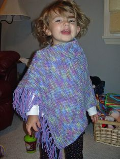 First knit poncho