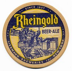 Rheingold Beer & Ale, Liebmann Breweries Inc., New York