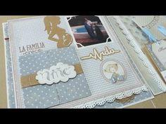 Album ruso bebé Eric - Páginas 1 y 2 - Dayka - YouTube Mini Albums Scrap, Big Shot, Frame, Crafts, Youtube, Baby Mini Album, Decorated Binders, Christening, Bebe