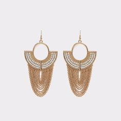 Ruosina Make an impact with these pierced chandelier earrings. With an egyptian feel you're sure to be treated like a queen.