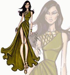 Hayden Williams Fashion Illustrations: Wildlife Safari by Hayden Williams: Look 5