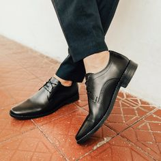 Slick, elegant, and understated -- the black leather derby shoes is a timeless classic that's here to stay. Bata Shoes, Men's Shoes, Derby Shoes, Timeless Classic, Shoe Collection, Moccasins, Oxford Shoes, Black Leather, Loafers