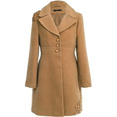 RAXEVSKY Elin Camel Coat ($180) ❤ liked on Polyvore