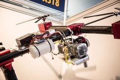 SOAPdrones Belias uses a 120cc two-stroke petrol engine and variable pitch props for heavy lift and...