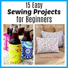 Ever wanted to sew your own clothes, decor, or gifts but not known how to start? Sewing isn't so scary if you follow the right tutorials! Check out these 15 easy sewing projects for beginners for some great projects to start with!