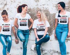 """Pack camisetas despedida de soltera """"Mi amiga se casa"""""""