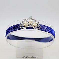 Royal Blue Baby Headband, Princess Tiara Headband, Baby Tiara, Princess Headband, Headband, Royal Blue Crown Headband, Frozen Tiara, 2223