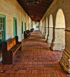 San Juan Bautista, CA mission. shops, small and quiet town.