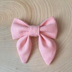 LIGHT PINK Sailor Style hair bow clip or baby bow by JaeBirdBows
