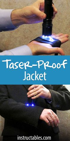 DIY Carbon Tape Taser-proof Jacket - What if a criminal attacked from behind, and he had a taser? You can make taser/stun-proof clothing - Survival Prepping, Survival Skills, Survival Gear, Survival Equipment, Tactical Clothing, Tactical Gear, Armas Ninja, Spy Gear, Do It Yourself Fashion