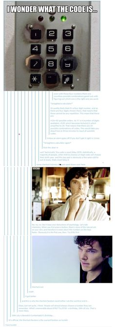 *Sherlock voice* Look at you lot, you're all so vacant. The light on the keypad is green, which most likely means that the whatever it may be (vault, door, ect.) is already open.<<<bahahaha