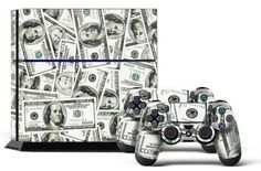 PS4 Console Designer Skin for Sony PlayStation 4 System plus Two2 Decals for PS4 Dualshock Controller Big Ballin by 247Skins *** See this great product.Note:It is affiliate link to Amazon. #awesome