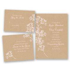 Floral Kraft - Bundle Basic Wedding Invitation Set - Inexpensive at Invitations By David's Bridal Budget Wedding Invitations, Rustic Invitations, Floral Invitation, Floral Wedding Invitations, Wedding Stationary, Invitation Ideas, Invites, Our Wedding Day, Dream Wedding