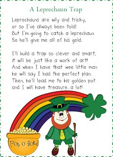"FREEBIE---Here's a how-to guide to pulling off a magical leprechaun visit to your classroom! With 3 writing prompts, a homework letter for a leprechaun trap, scavenger hunt clues and lots of tips for creating ""magic"" in the classroom Holiday Activities, Preschool Activities, Spring Activities, Anchor Charts, St Patricks Day Crafts For Kids, St Patricks Day Songs, St Patrick Day Activities, March Crafts, Kobold"
