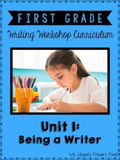 First grade writing unit for establishing the routines and procedures of writing workshop!  You'll also take and score a narrative, informational, and opinion writing sample from each student.  The unit includes thorough minilessons, posters, an alphabet chart, sight word booklet, printable writing paper, and more. $