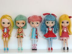 Another find is Chocolatcake, from Madrid, who is also on Etsy. She gives us her Technicolor insight into Blythe.