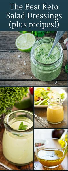 You can still have amazing salad dressings on a keto diet. This list highlights .- You can still have amazing salad dressings on a keto diet. This list highlights some great recipes, along with dressings that you can buy at the store. Check it out! Low Carb Keto, Low Carb Recipes, Healthy Recipes, Atkins Recipes, Healthy Habits, Healthy Meals, Salad Recipes, Keto Diet Plan, Ketogenic Diet