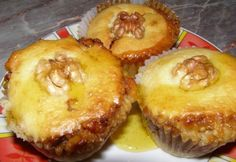 Baklava muffin Muffins, Sweets, Snacks, Cookies, Baking, Breakfast, Desserts, Recipes, Food