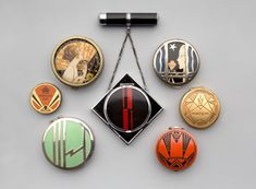 Assorted compacts and eye shadows  c. 1920s–30s United States, Europe, and Argentina Courtesy of Art Deco Collection