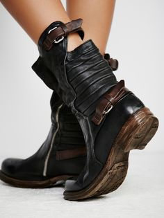 98 Billow Ankle Boot at Free People Clothing Boutique Rocker Chick, Distressed Leather, Designer Shoes, Leather Shoes, Footwear, Ankle, My Style, Heels, Boots