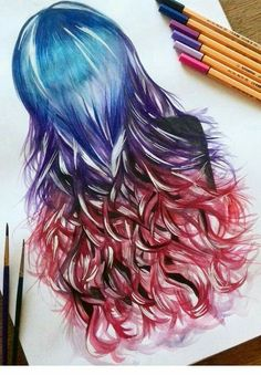 Beautiful obre hair effect , if you notice this artist made it look so real! Amazing work!