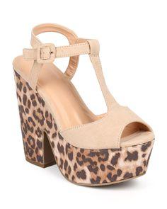 New-Women-Wild-Diva-Elfi-17-Suede-T-Strap-Peep-Toe-Leopard-Platform-Sandal-Size