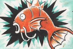 Pokemon Magikarp fan art by Jaimie Filer. artofdoom.blogspot.com