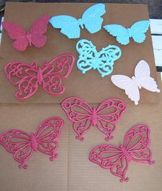 Vintage Syroco Wall Butterflies