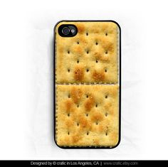 iPhone 4 case iPhone 4s case - Cracker iPhone Case. I would accidentally eat my phone if I had this case ;) ha