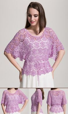 Delicadezas en crochet Gabriela: Blusas y vestidos