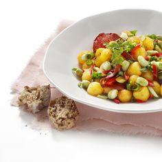 Jan Linders - Spaanse aardappel-tuinbonensalade (recept)