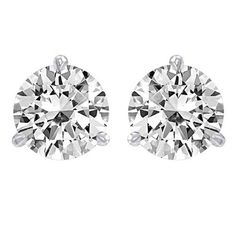 72% Off was $7,540.00, now is $2,140.00! 1.5 Carat Solitaire Diamond Stud Earrings Round Brilliant Shape 3 Prong Screw Back (J-K Color, SI2-I1 Clarity)...  #HoustonDiamondDistrict